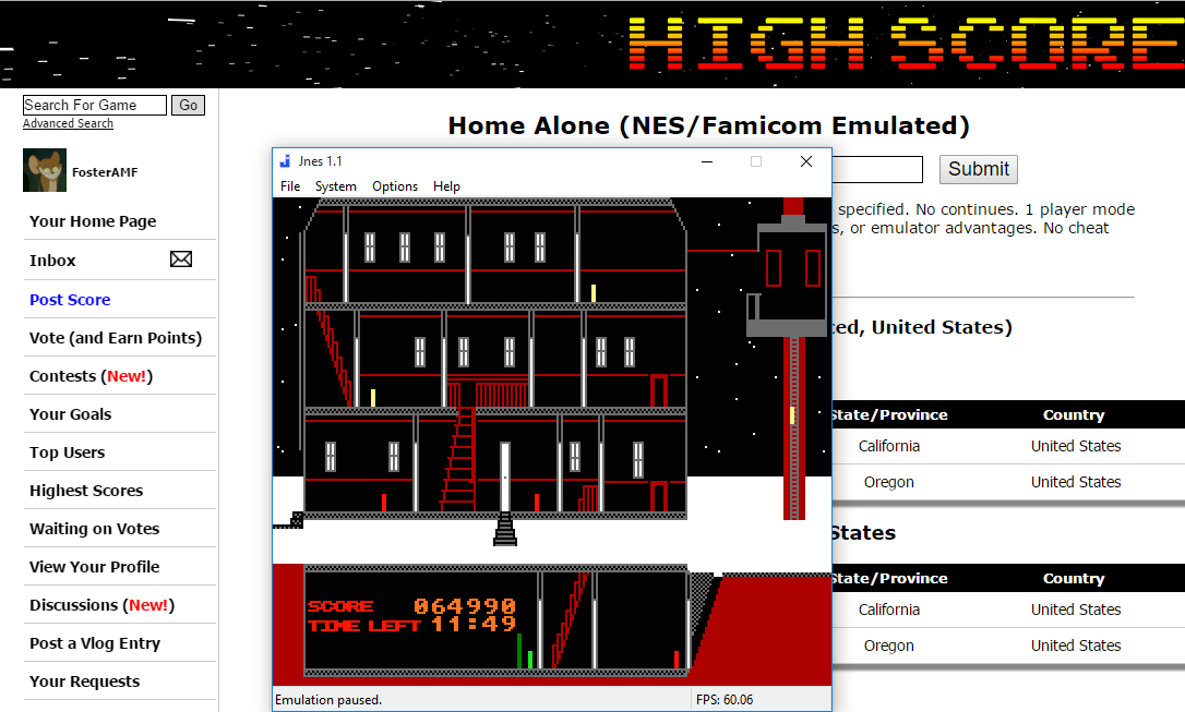 FosterAMF: Home Alone (NES/Famicom Emulated) 64,990 points on 2016-01-08 14:03:33