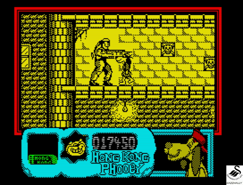 gazzhally: Hong Kong Phooey [50,000 Points Completion Bonus] (ZX Spectrum Emulated) 67,450 points on 2017-07-16 17:02:45