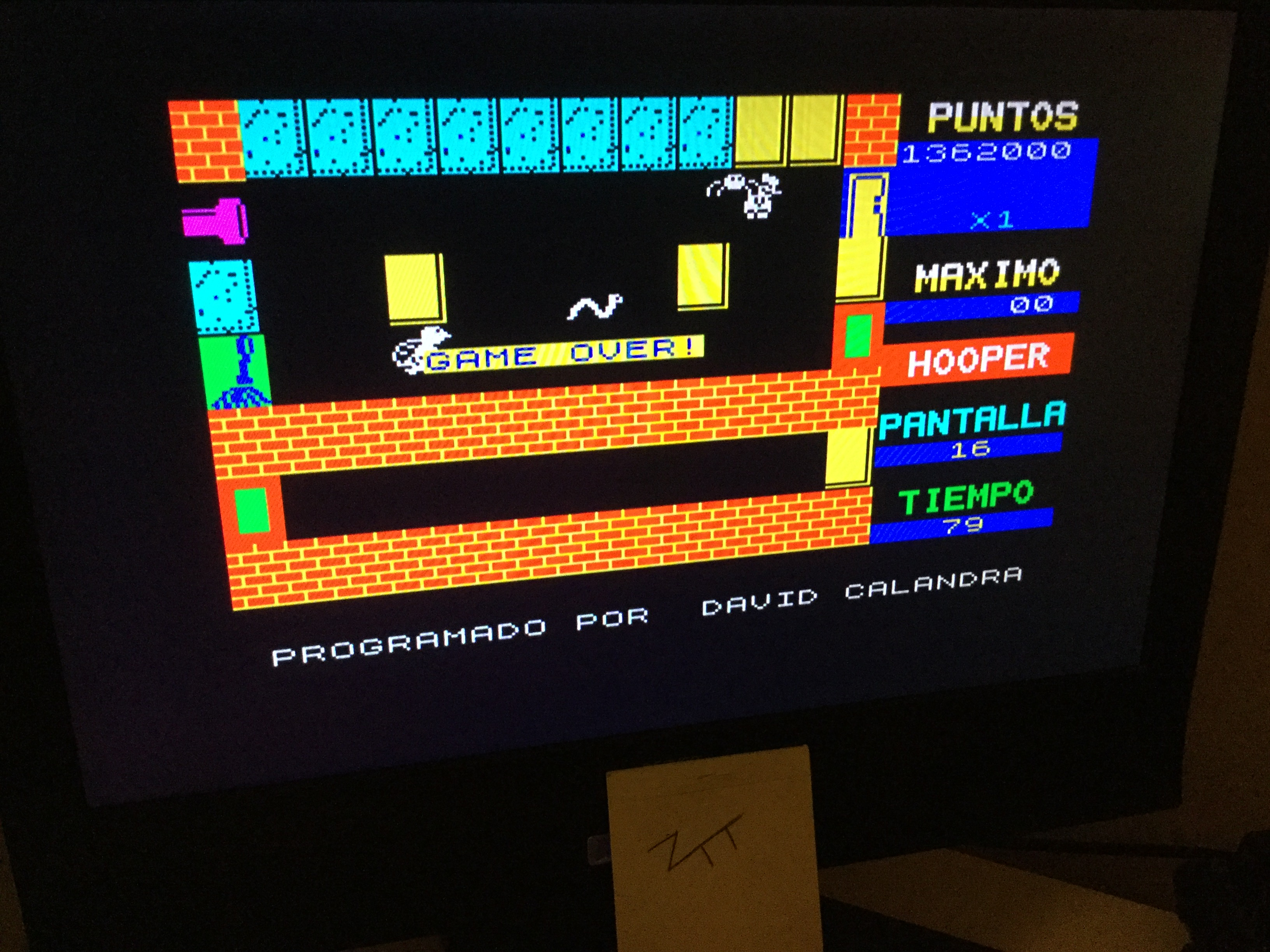 Frankie: Hooper (ZX Spectrum) 1,362,000 points on 2020-07-03 06:36:26