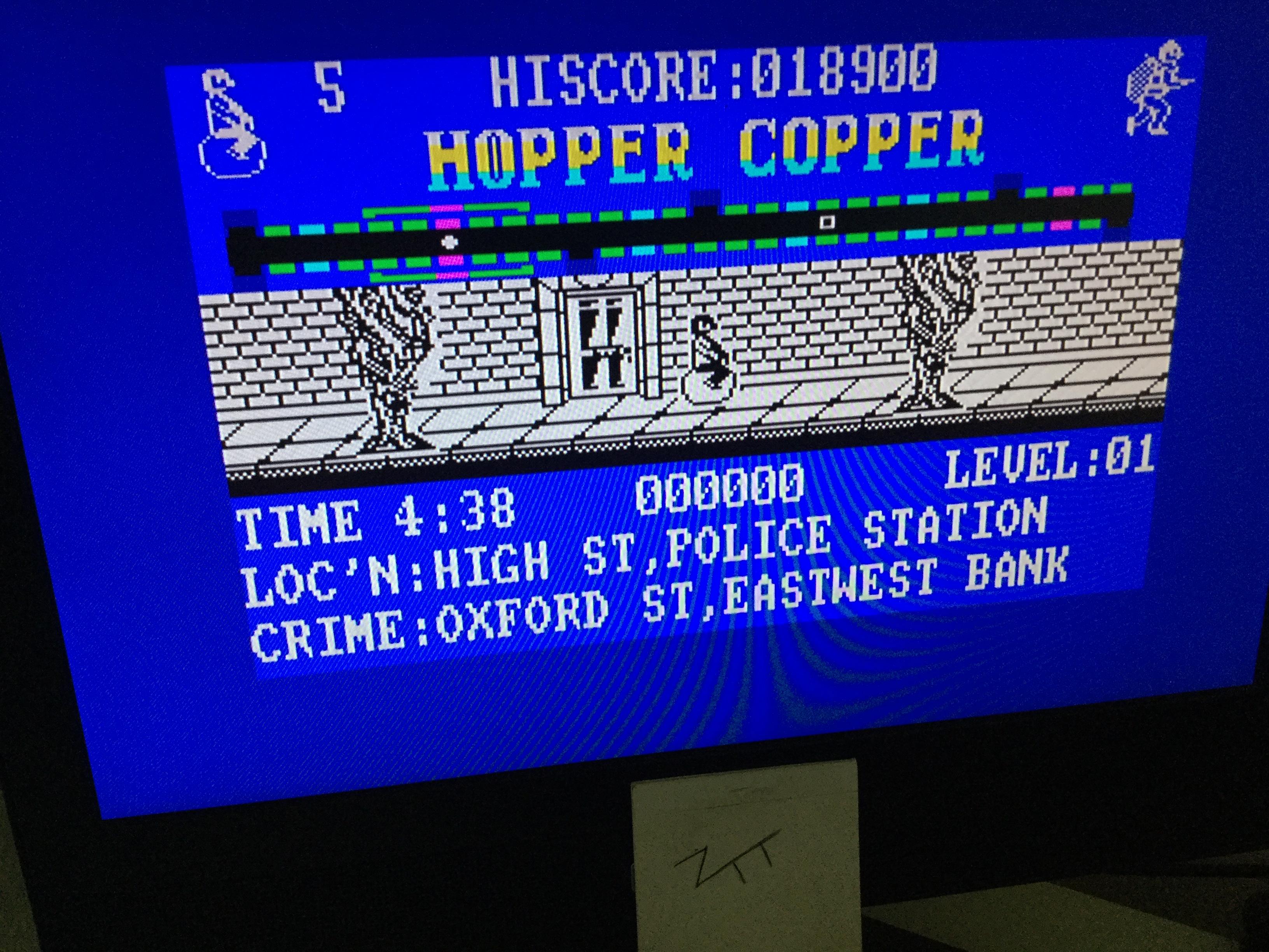 Frankie: Hopper Copper (ZX Spectrum) 18,900 points on 2020-08-23 03:30:23