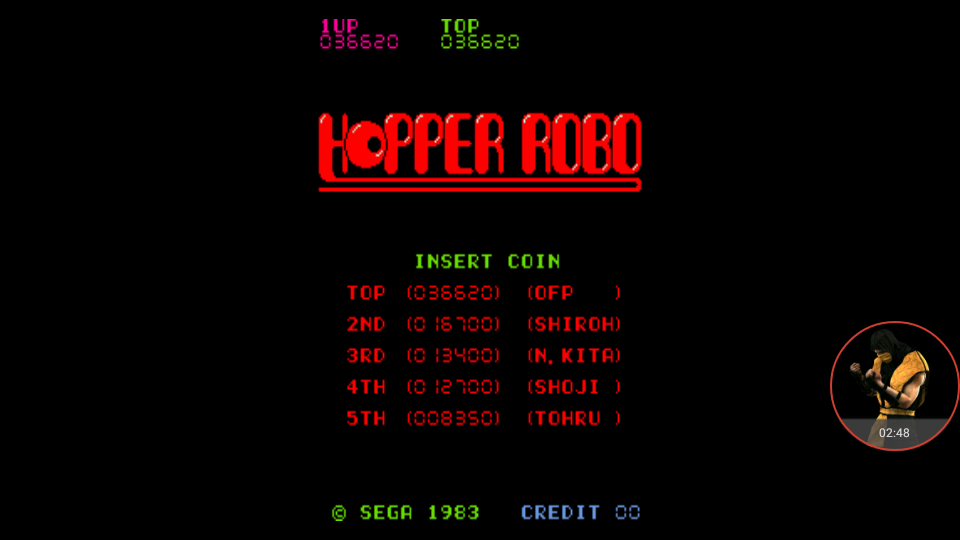 omargeddon: Hopper Robo [hopprobo] (Arcade Emulated / M.A.M.E.) 36,620 points on 2017-12-30 15:40:53