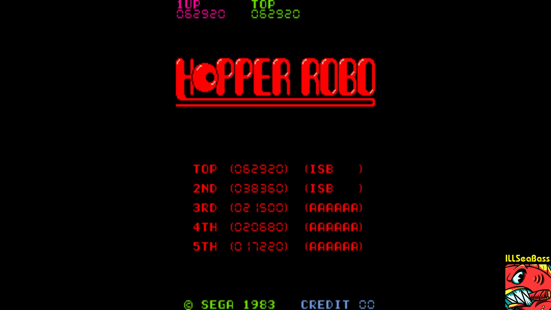 ILLSeaBass: Hopper Robo [hopprobo] (Arcade Emulated / M.A.M.E.) 62,920 points on 2017-12-31 13:38:10
