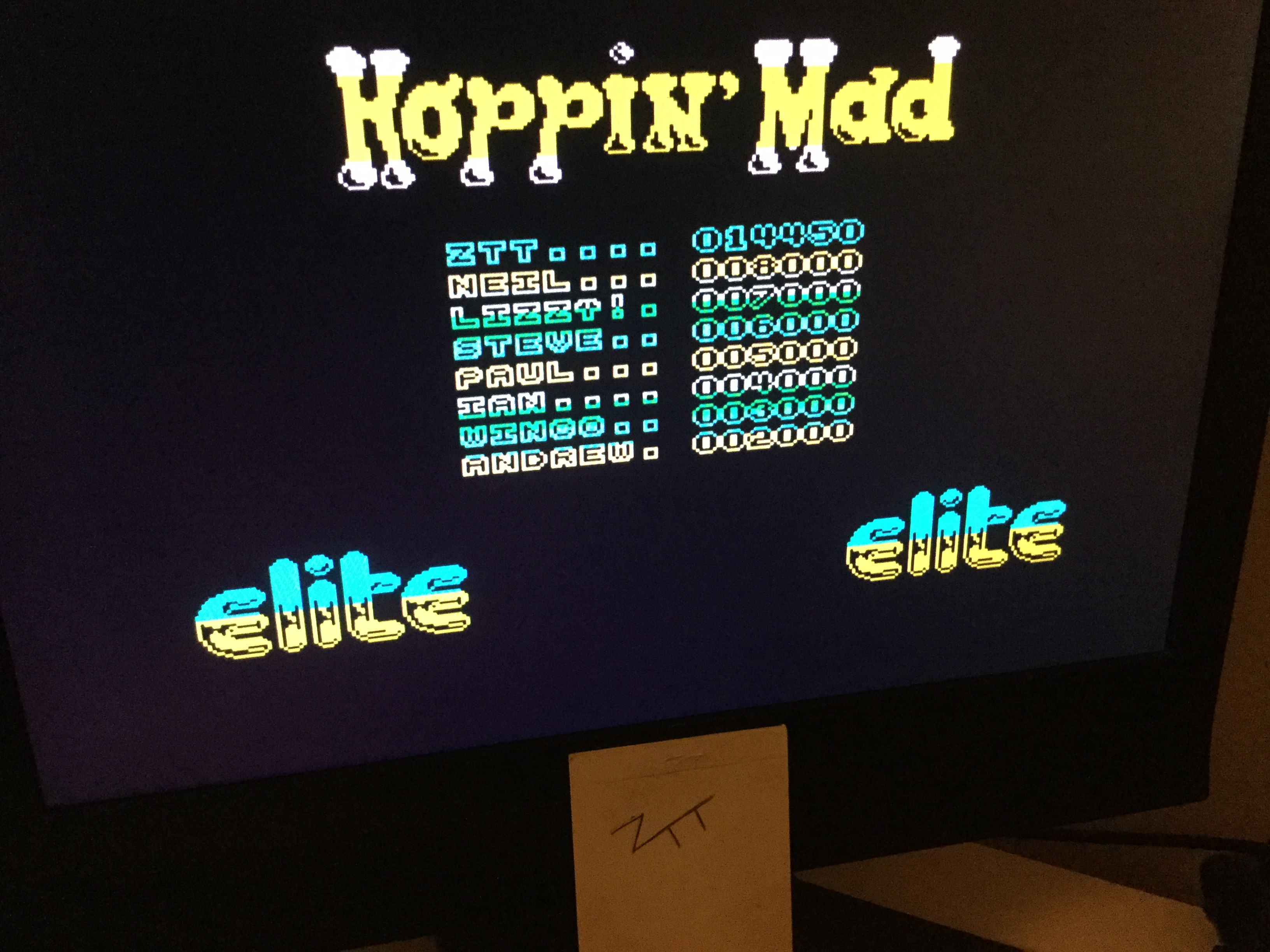 Frankie: Hoppin' Mad (ZX Spectrum) 14,450 points on 2020-07-04 06:48:13