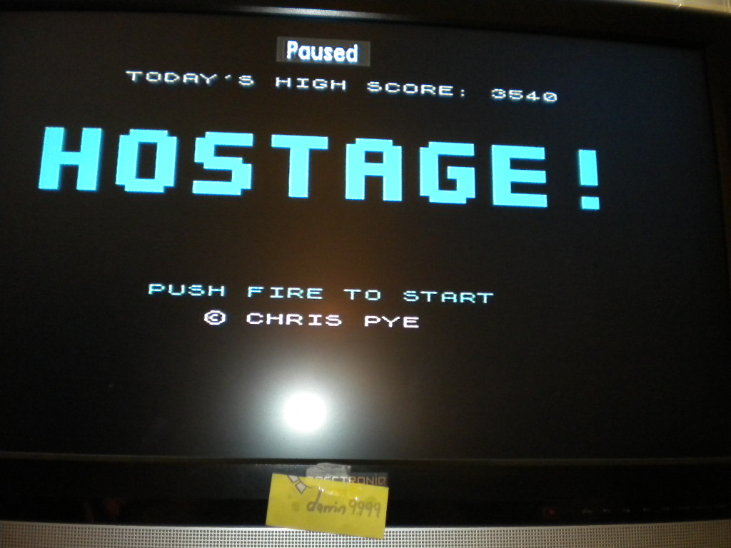 darrin9999: Hostage! [Chris Pye] (ZX Spectrum Emulated) 3,540 points on 2016-08-14 13:04:14