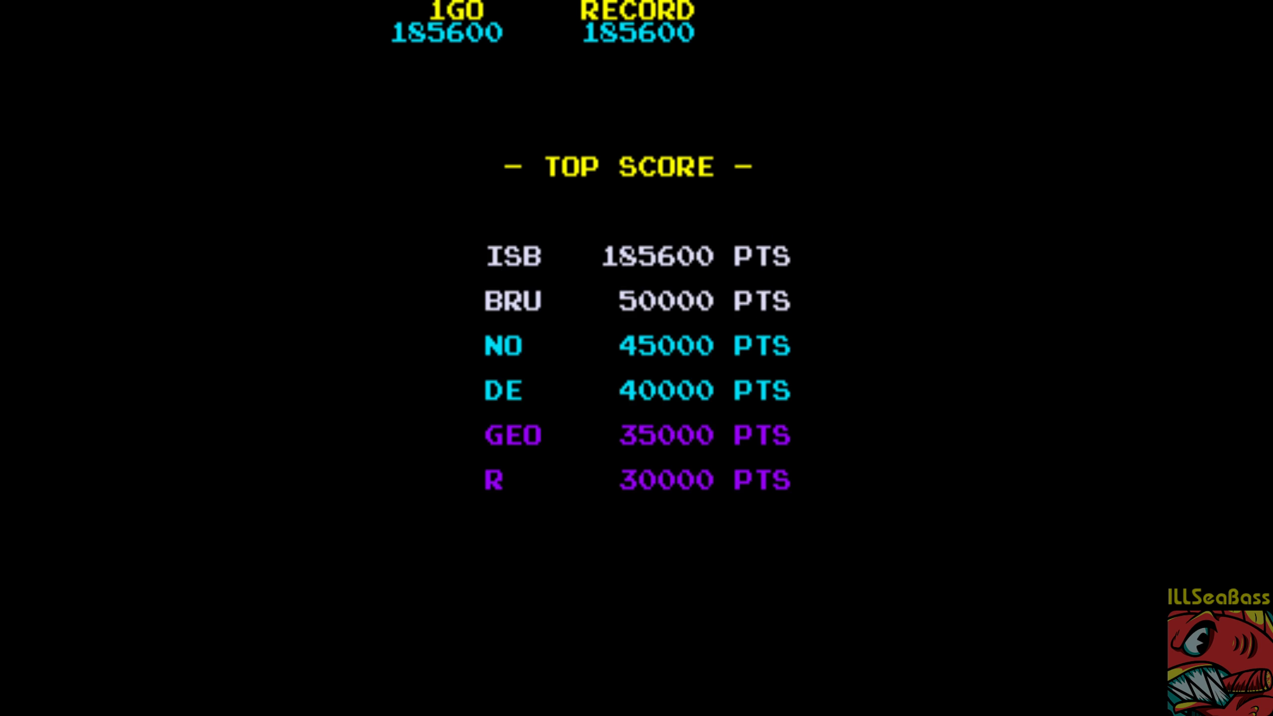 ILLSeaBass: Hot Shocker [hotshock] (Arcade Emulated / M.A.M.E.) 185,600 points on 2018-08-05 14:23:19