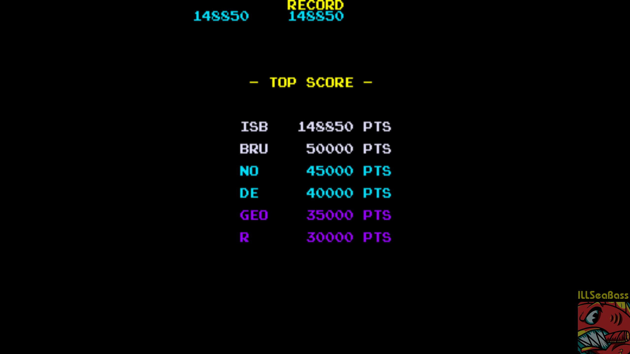 ILLSeaBass: Hot Shocker [hotshockb] (Arcade Emulated / M.A.M.E.) 148,850 points on 2018-08-12 22:03:21