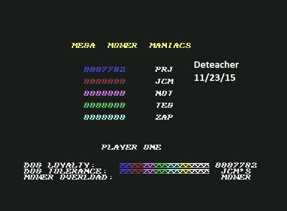 Deteacher: Hover Bovver (Commodore 64 Emulated) 7,782 points on 2015-11-23 12:56:04