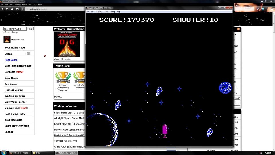 OriginalGamer: Huge Insect (NES/Famicom Emulated) 179,370 points on 2016-09-05 01:27:57