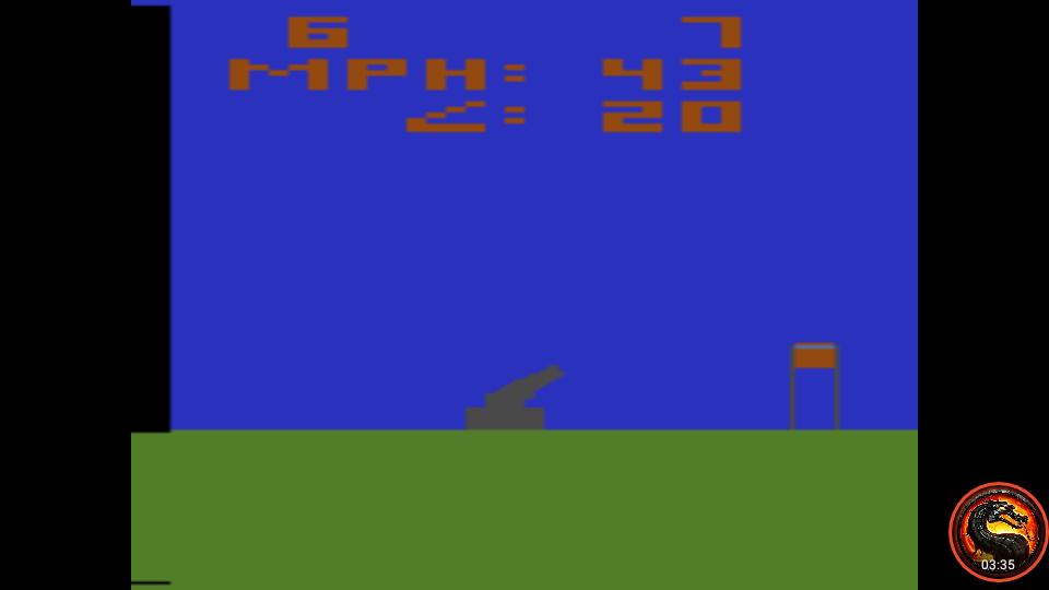 omargeddon: Human Cannonball [Game 1] (Atari 2600 Emulated Novice/B Mode) 6 points on 2020-04-06 23:22:36