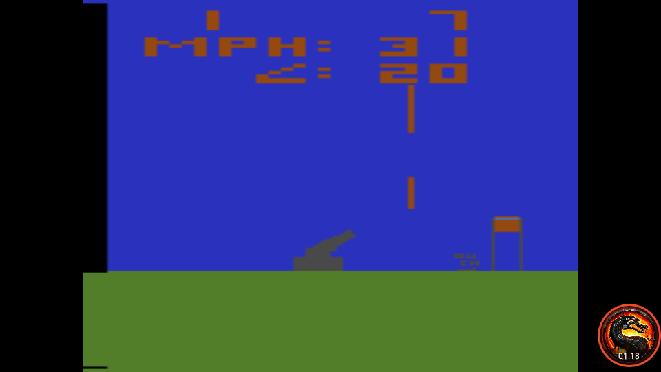 omargeddon: Human Cannonball [Game 5] (Atari 2600 Emulated Novice/B Mode) 1 points on 2020-04-06 23:33:50