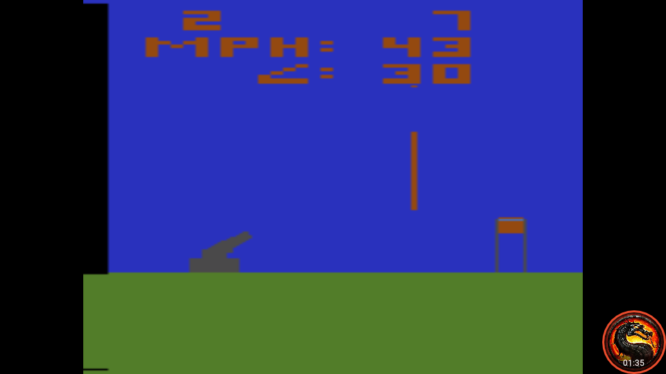 omargeddon: Human Cannonball [Game 6] (Atari 2600 Emulated Novice/B Mode) 2 points on 2020-04-06 23:34:40
