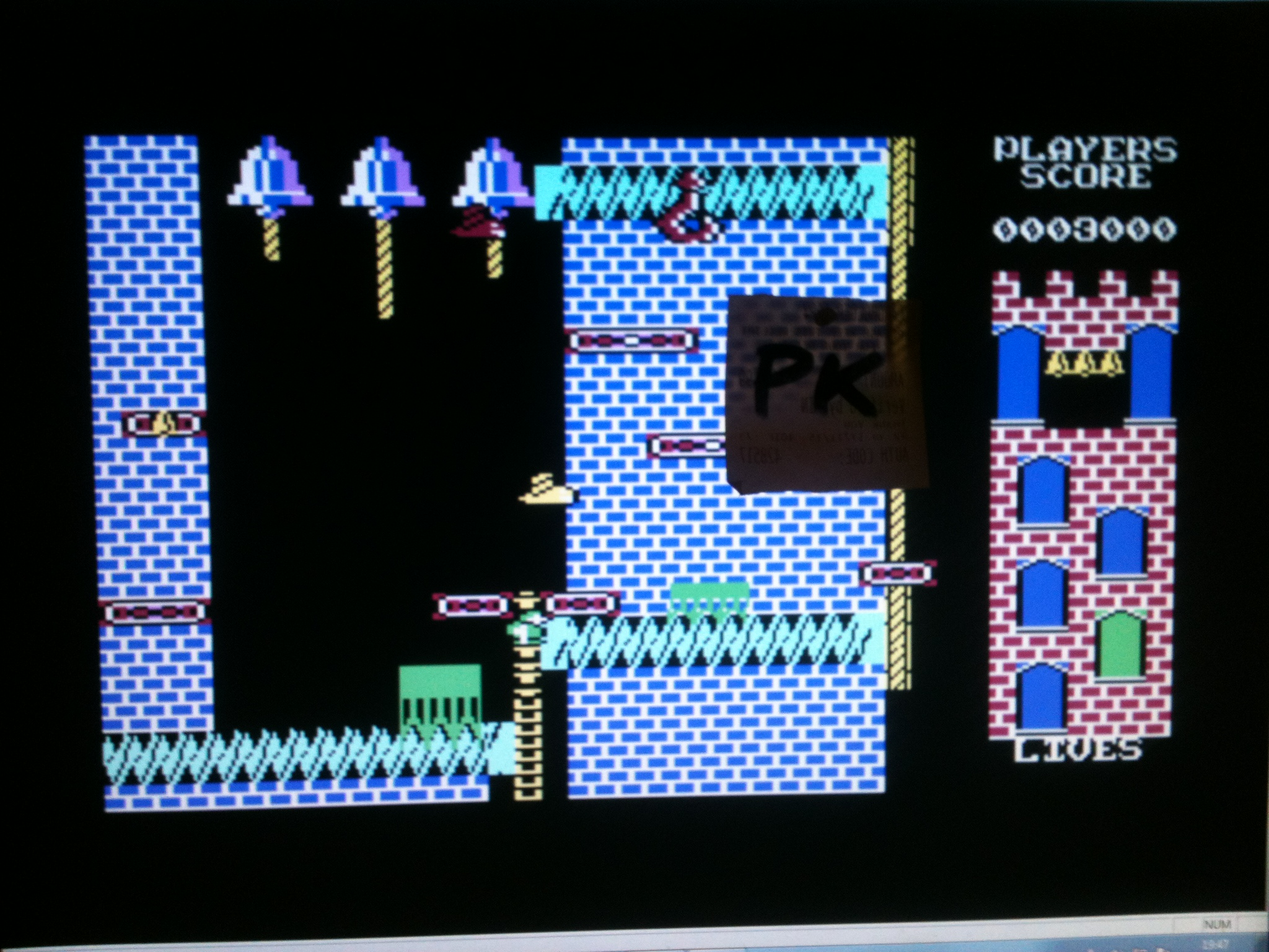 kernzy: Hunchback II (Commodore 64 Emulated) 3,000 points on 2015-12-19 14:03:19