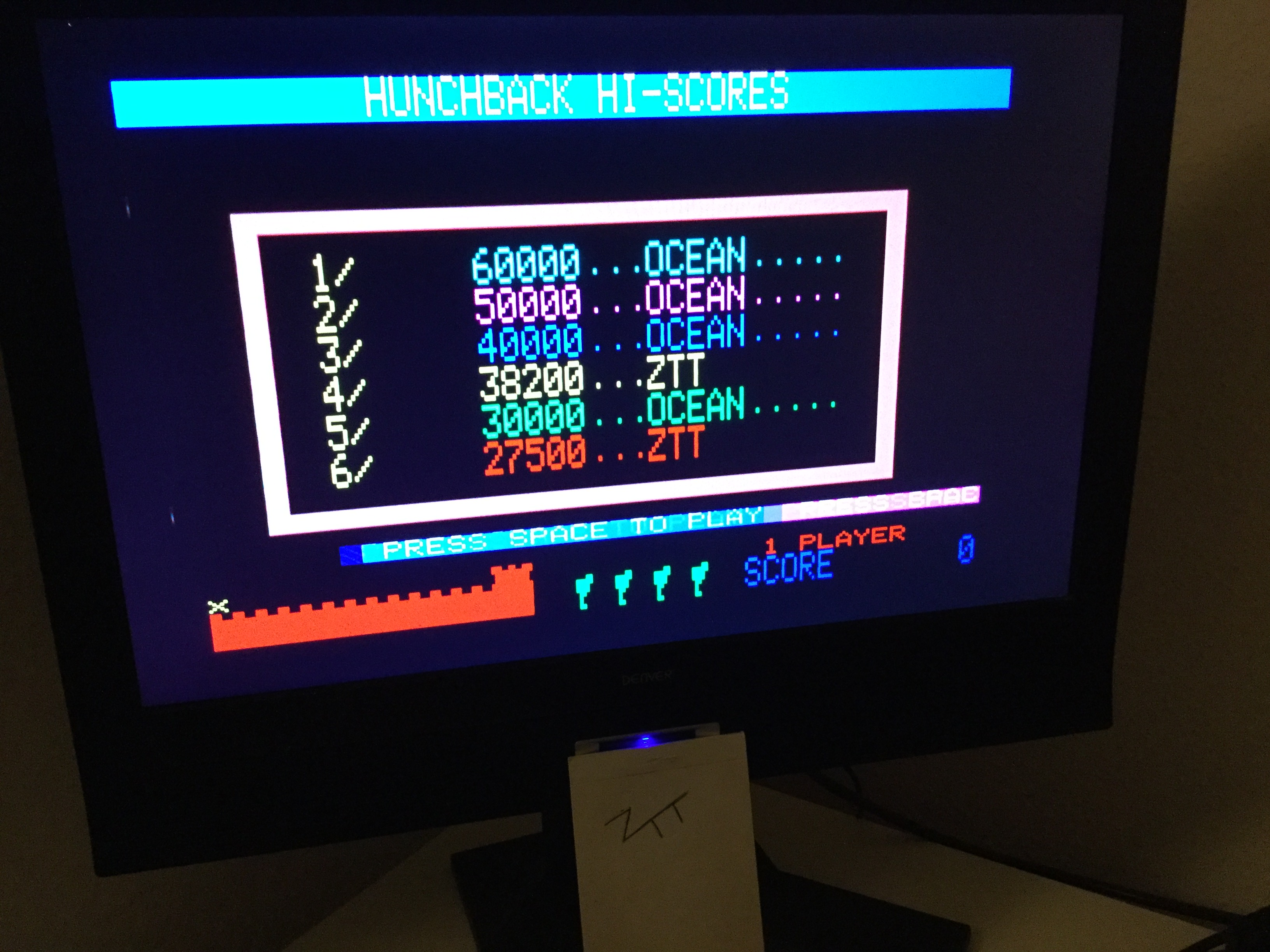 Frankie: Hunchback (Oric-1) 38,200 points on 2020-01-17 05:49:24
