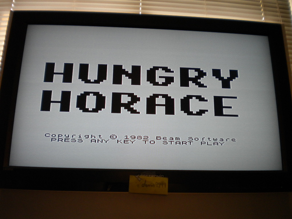 Hungry Horace 2,550 points
