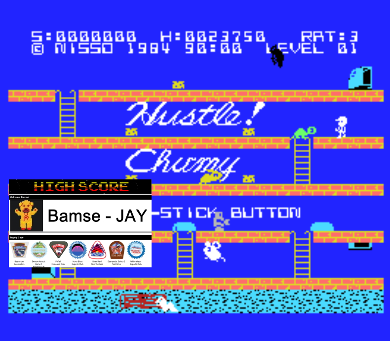 Bamse: Hustle Chumy (MSX Emulated) 23,750 points on 2019-12-05 17:03:45
