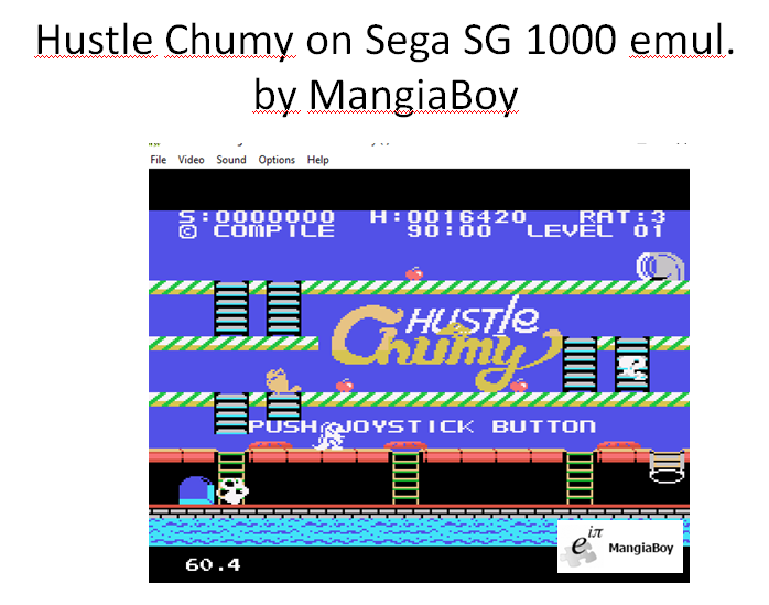 MangiaBoy: Hustle Chumy (Sega SG-1000 Emulated) 16,420 points on 2016-01-04 13:52:42