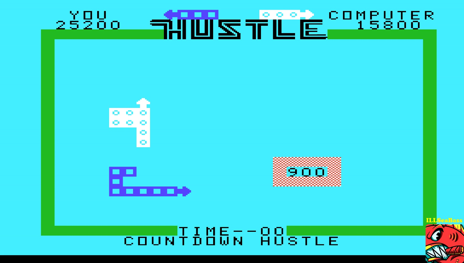 ILLSeaBass: Hustle [Countdown: Amateur] (TI 99/4A Emulated) 25,200 points on 2017-05-12 00:30:12