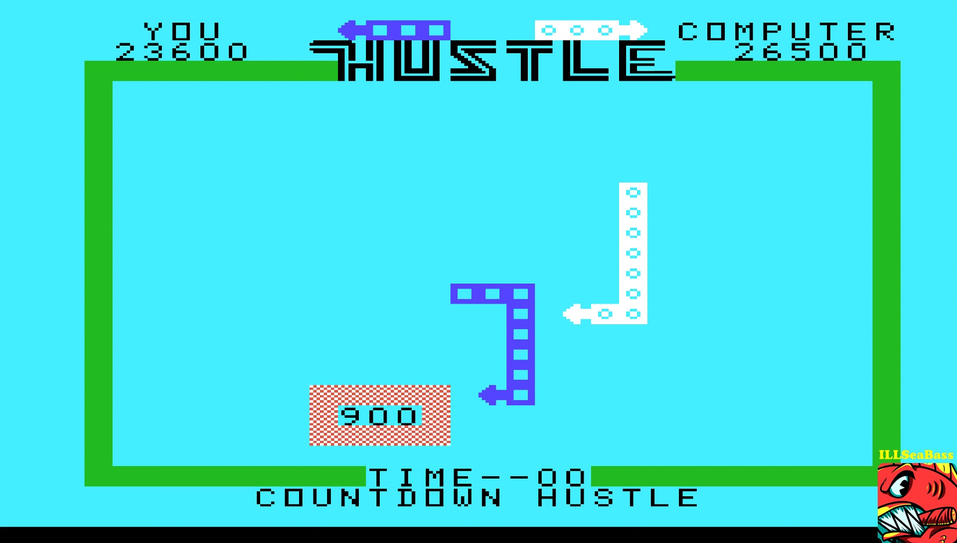 ILLSeaBass: Hustle [Countdown: Hustler] (TI 99/4A Emulated) 23,600 points on 2017-05-12 00:32:01