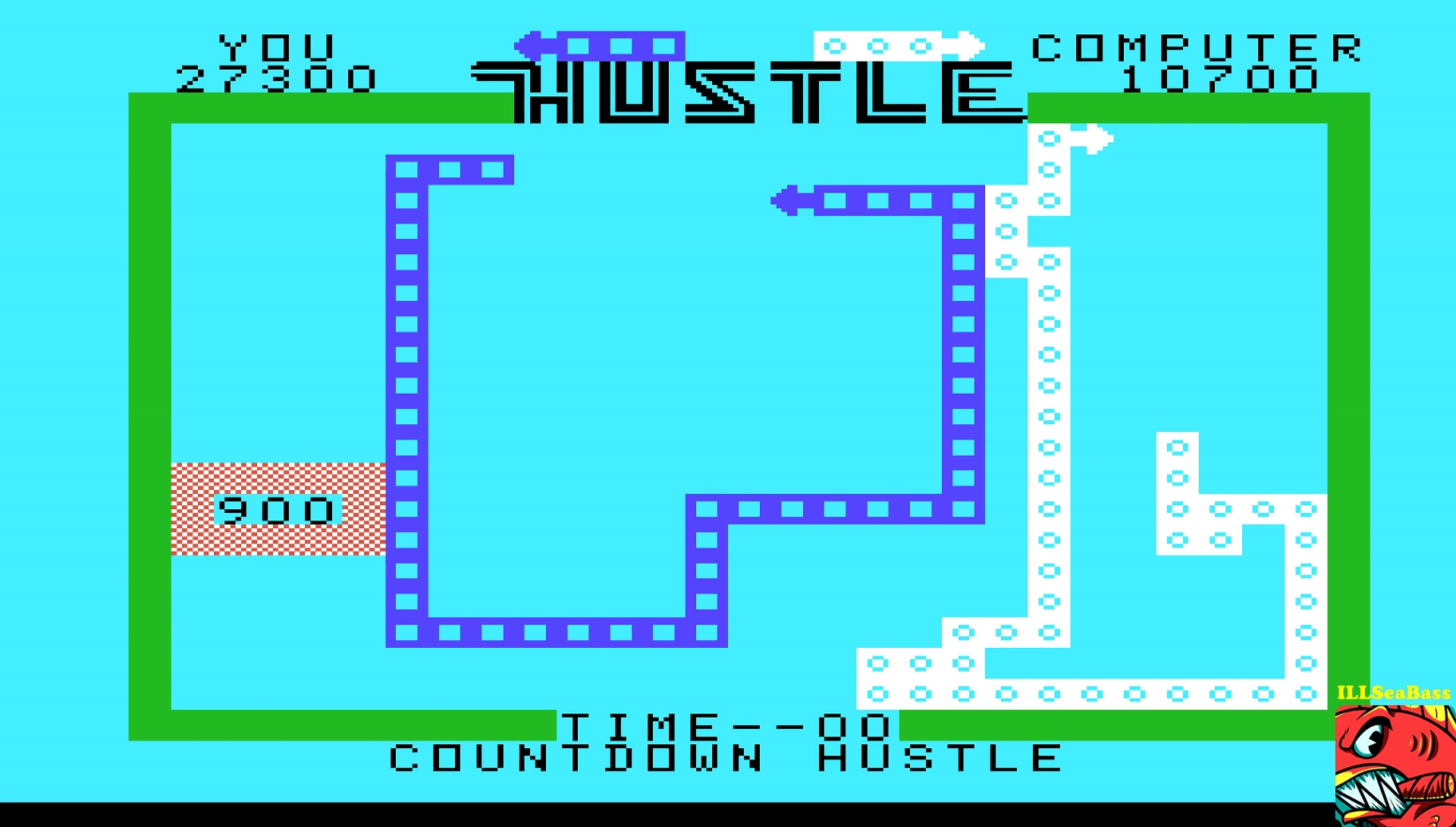 ILLSeaBass: Hustle [Countdown: Novice] (TI 99/4A Emulated) 27,300 points on 2017-05-11 23:41:24