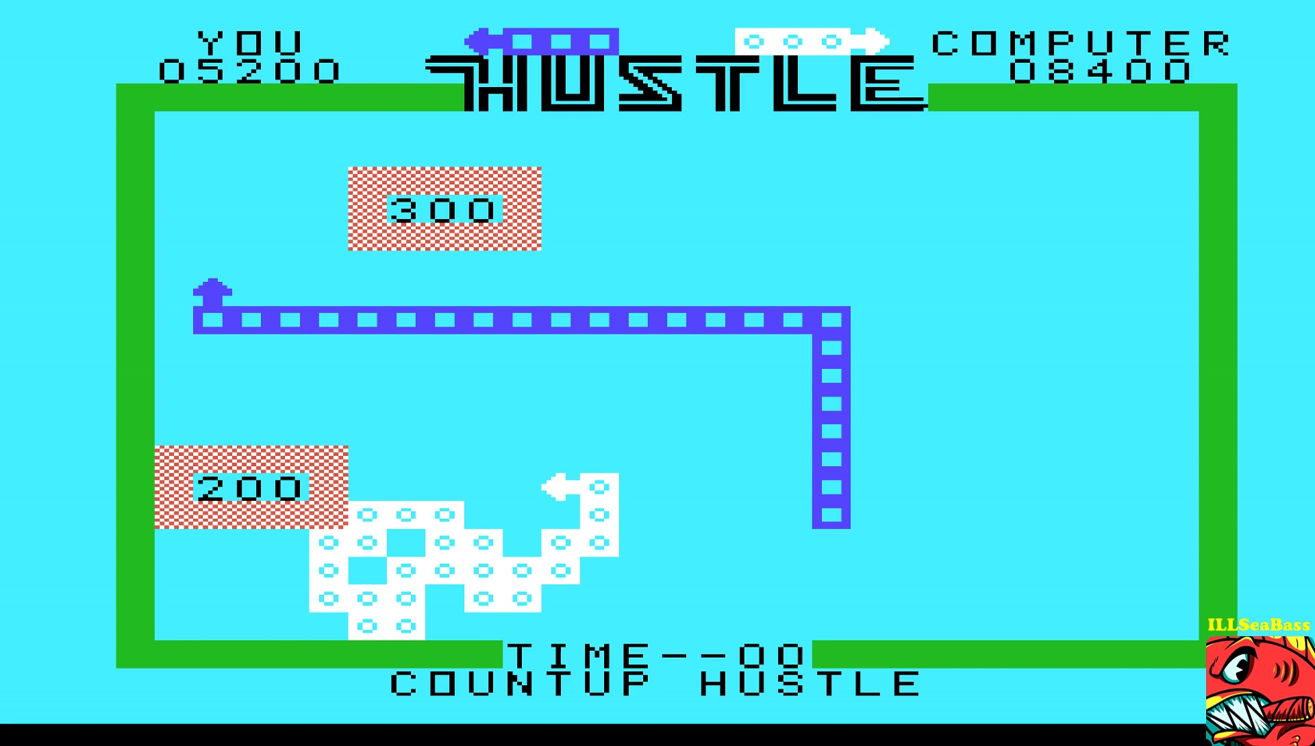 ILLSeaBass: Hustle [Countup: Hustler] (TI 99/4A Emulated) 5,200 points on 2017-05-12 20:30:54