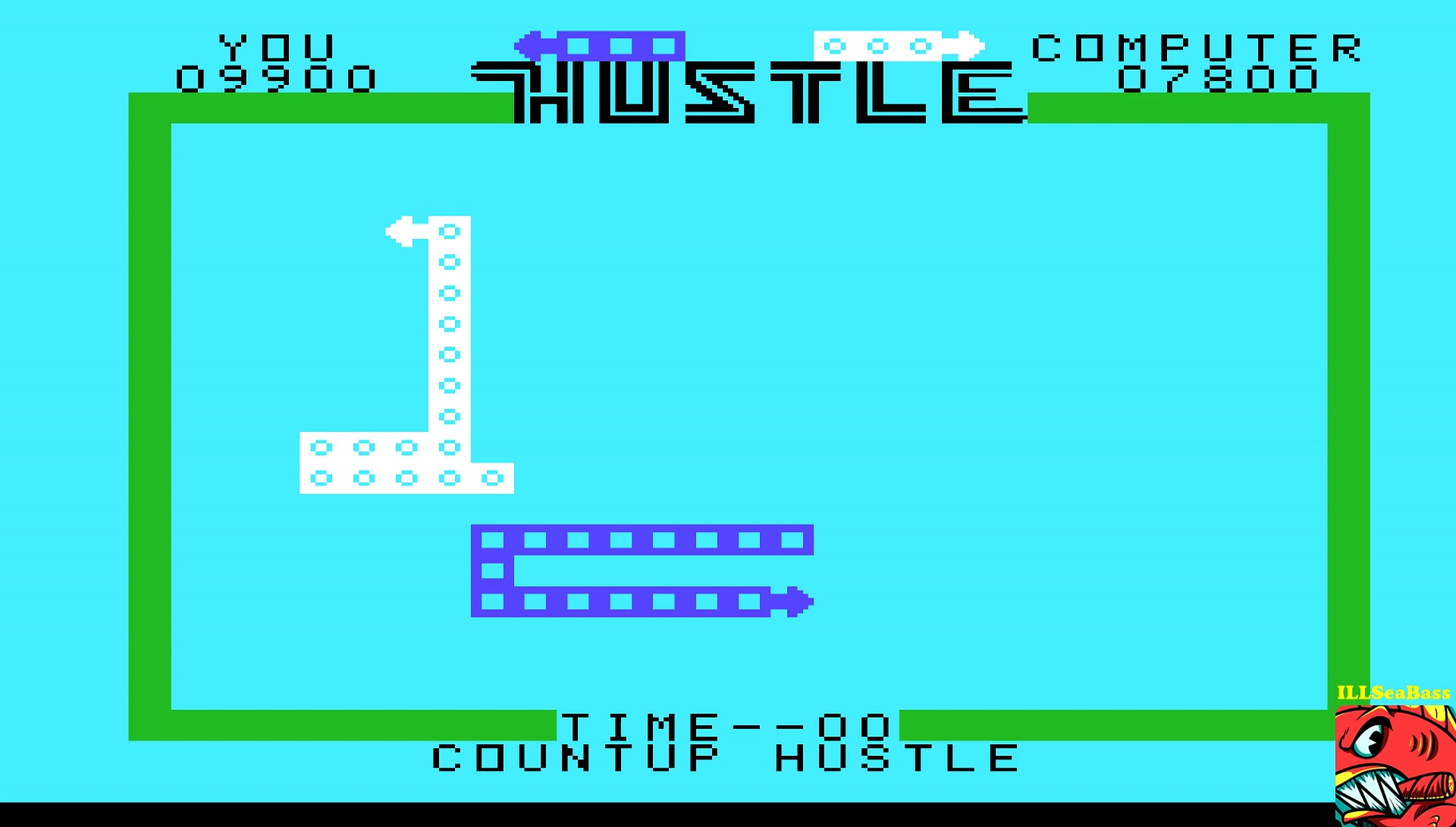 ILLSeaBass: Hustle [Countup: Novice] (TI 99/4A Emulated) 9,900 points on 2017-05-12 20:28:03