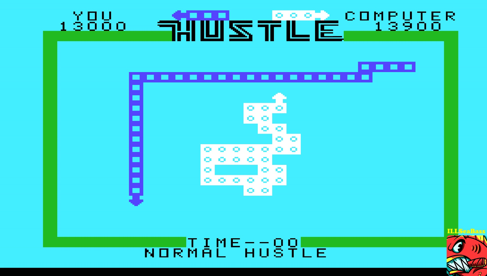ILLSeaBass: Hustle [Normal: Hustler] (TI 99/4A Emulated) 13,000 points on 2017-05-11 23:13:10