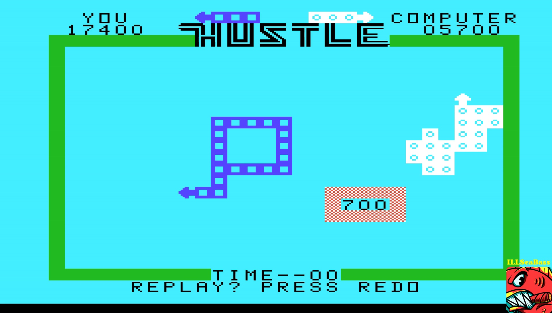 ILLSeaBass: Hustle [Normal: Novice] (TI 99/4A Emulated) 17,400 points on 2017-05-11 22:45:13