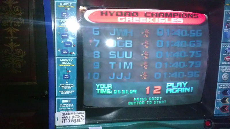 Hydro Thunder: Greek Isles time of 0:01:51.09
