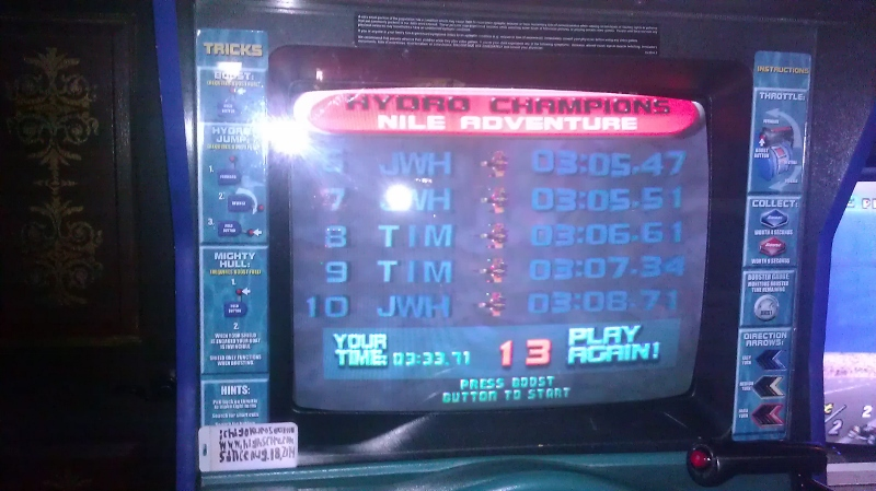 Hydro Thunder: Nile Roventure time of 0:03:33.71