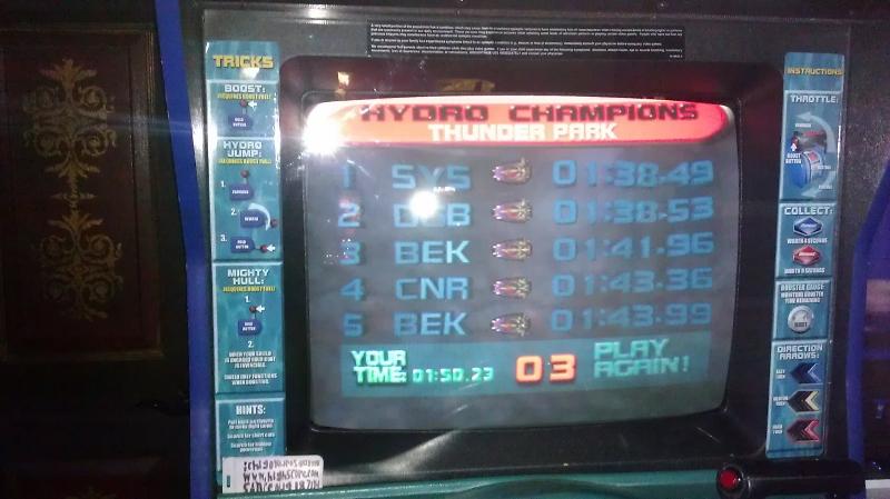 Hydro Thunder: Thunder Park time of 0:01:50.23