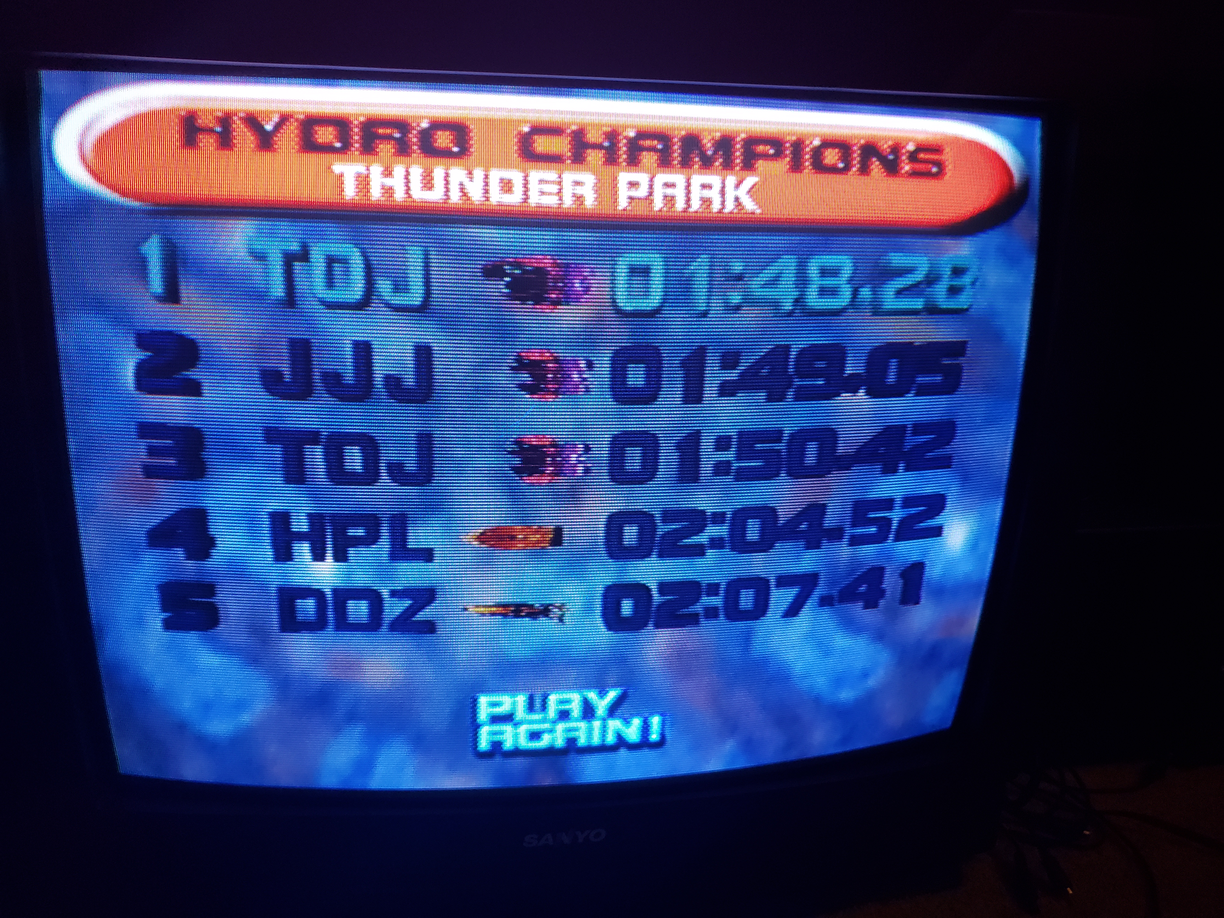 Stryker: Hydro Thunder: Thunder Park (Playstation 1) 0:01:48.28 points on 2018-12-27 02:18:06