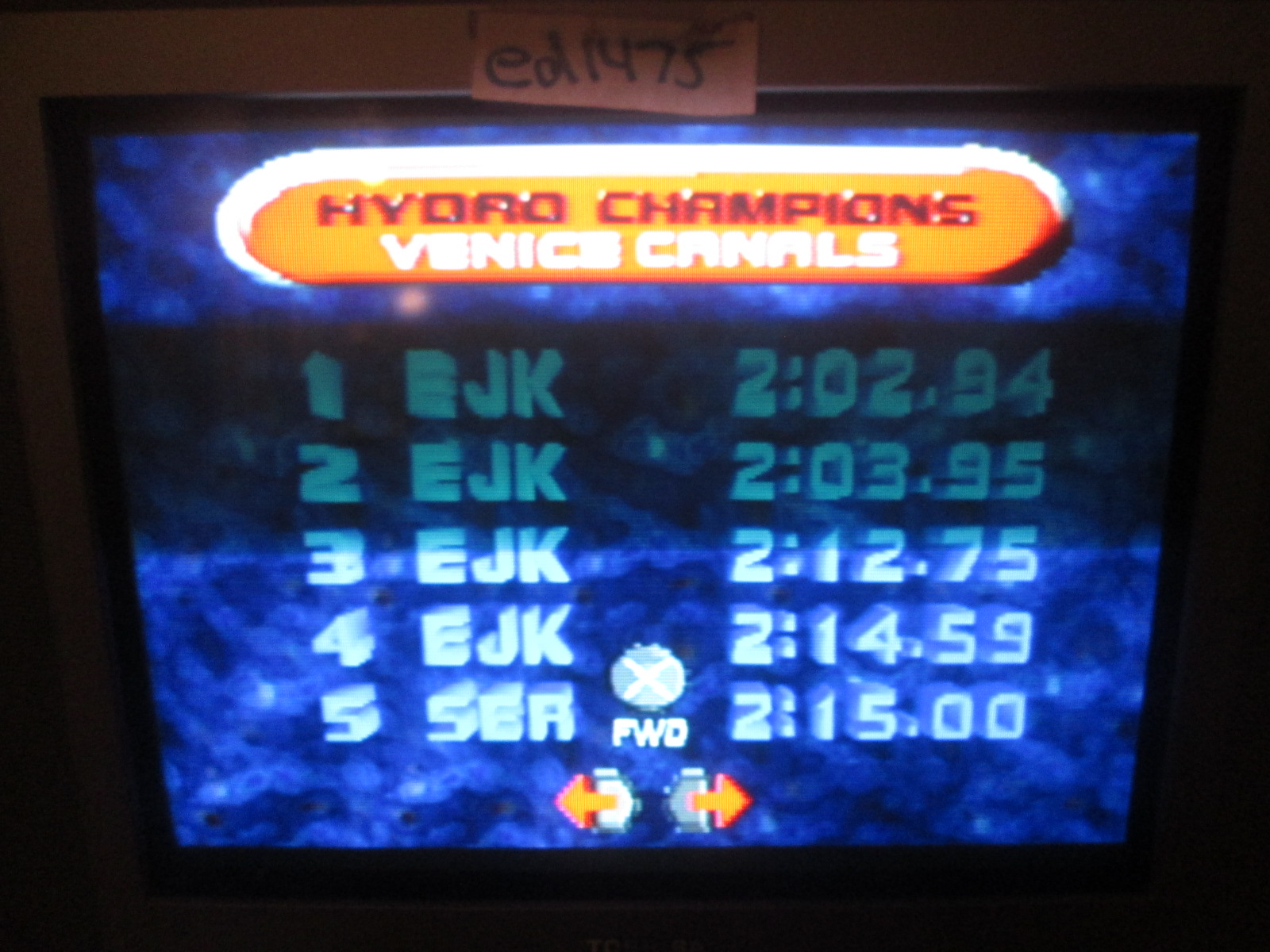 ed1475: Hydro Thunder: Venice Canals (Playstation 1) 0:02:02.94 points on 2016-12-03 19:06:59