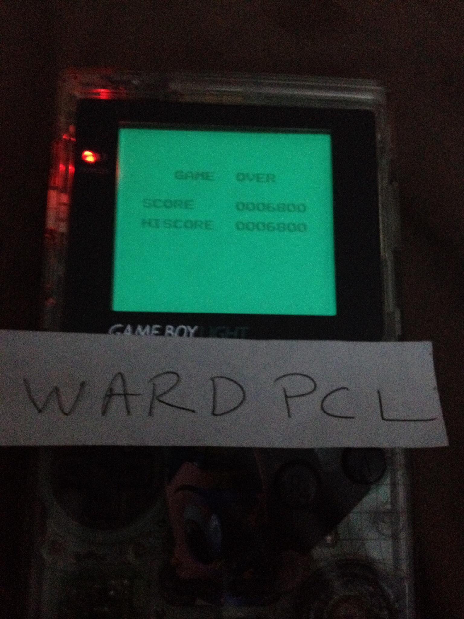 Wardpcl: Hyper Lode Runner (Game Boy) 6,800 points on 2015-07-18 07:39:35