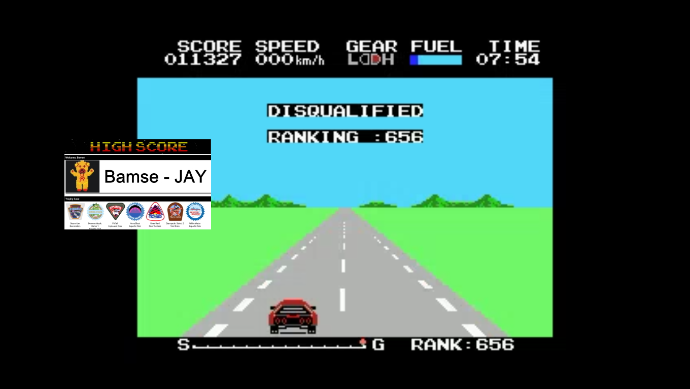 Bamse: Hyper Rally (MSX Emulated) 11,327 points on 2019-12-05 16:50:19