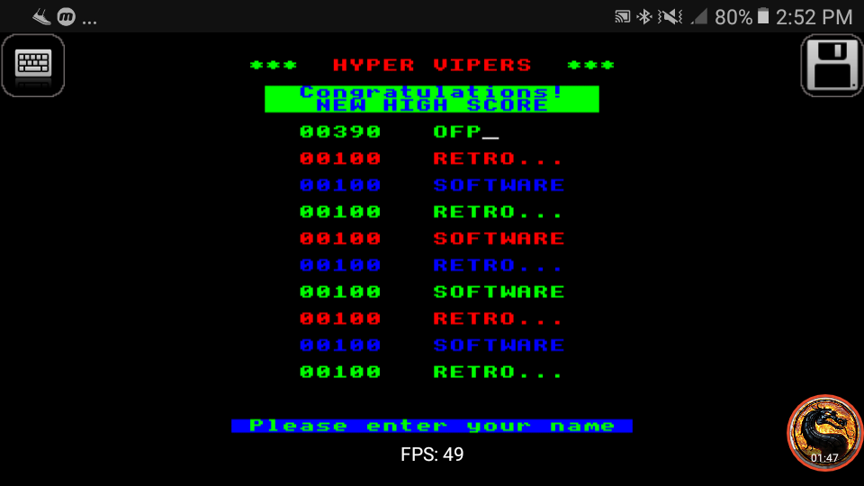 omargeddon: Hyper Viper [Retro Sofware] (BBC Micro Emulated) 390 points on 2019-02-08 14:50:09