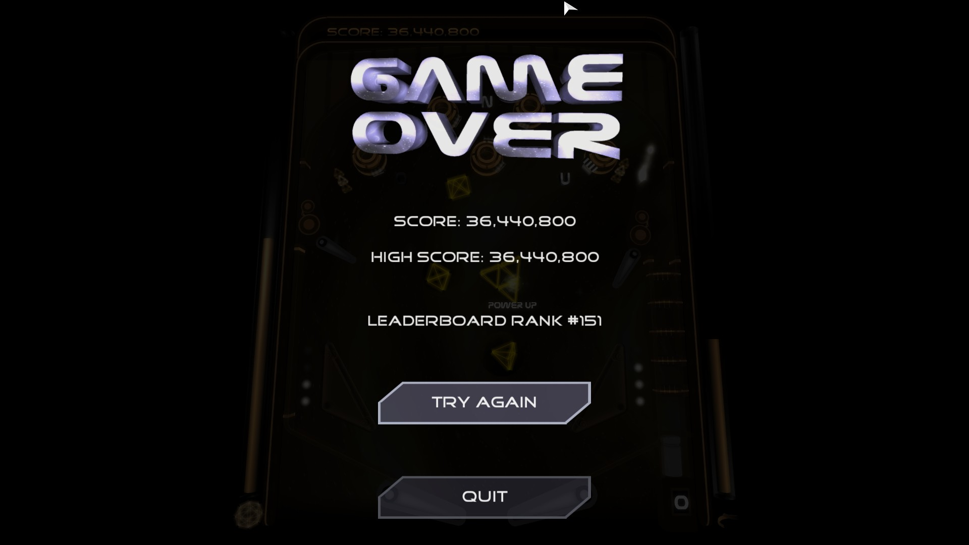 Mantalow: Hyperspace Pinball (PC) 36,440,800 points on 2016-01-31 04:23:35