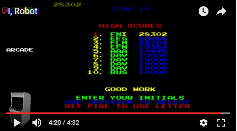 mechafatnick: I, Robot (Arcade Emulated / M.A.M.E.) 28,302 points on 2017-01-05 23:14:05