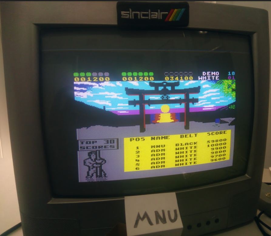 hughes10: IK+ (ZX Spectrum) 59,800 points on 2020-01-25 11:14:43