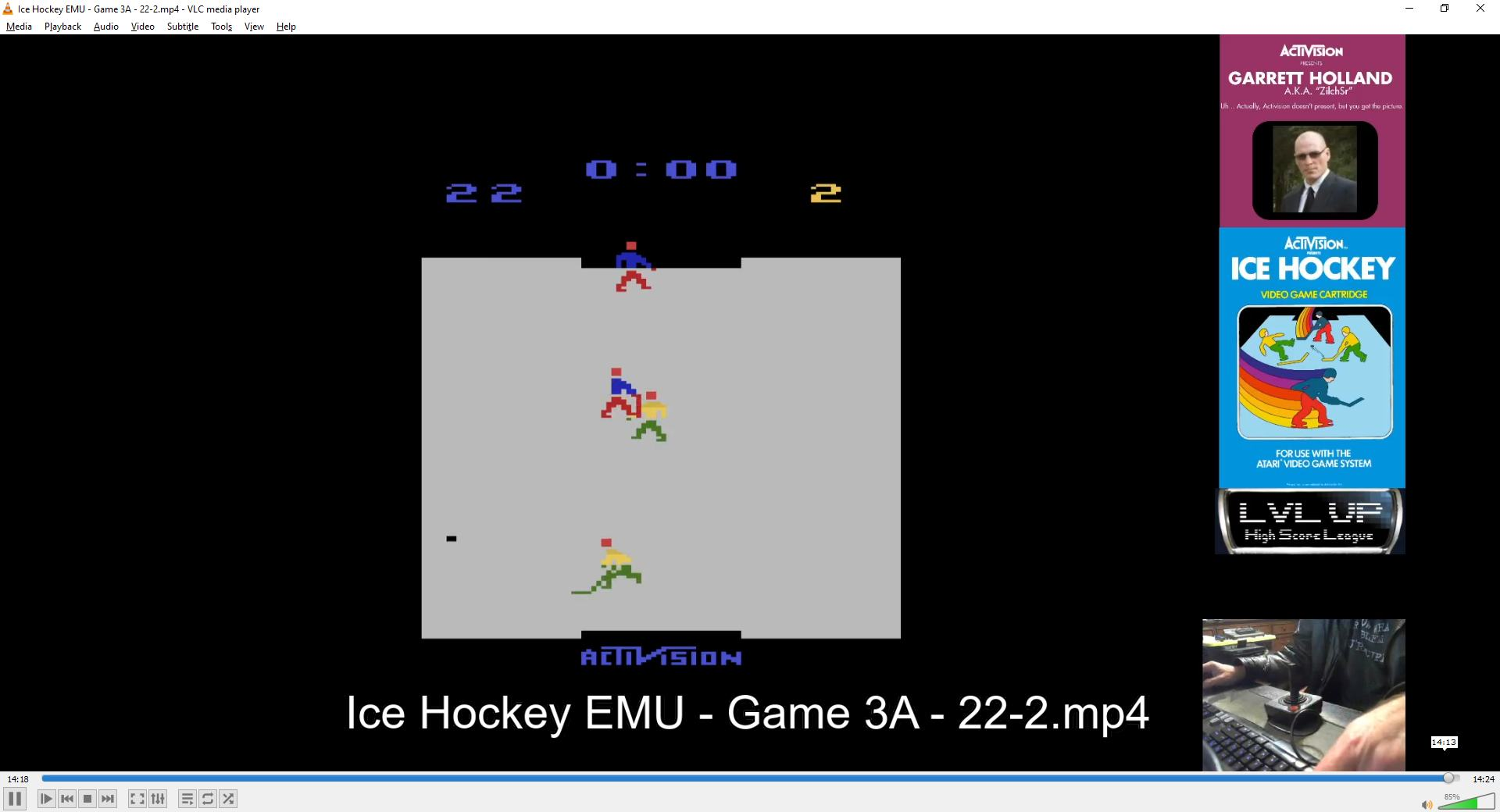 ZilchSr: Ice Hockey: Game 3 [Point Difference] (Atari 2600 Emulated Expert/A Mode) 20 points on 2021-02-13 16:13:52