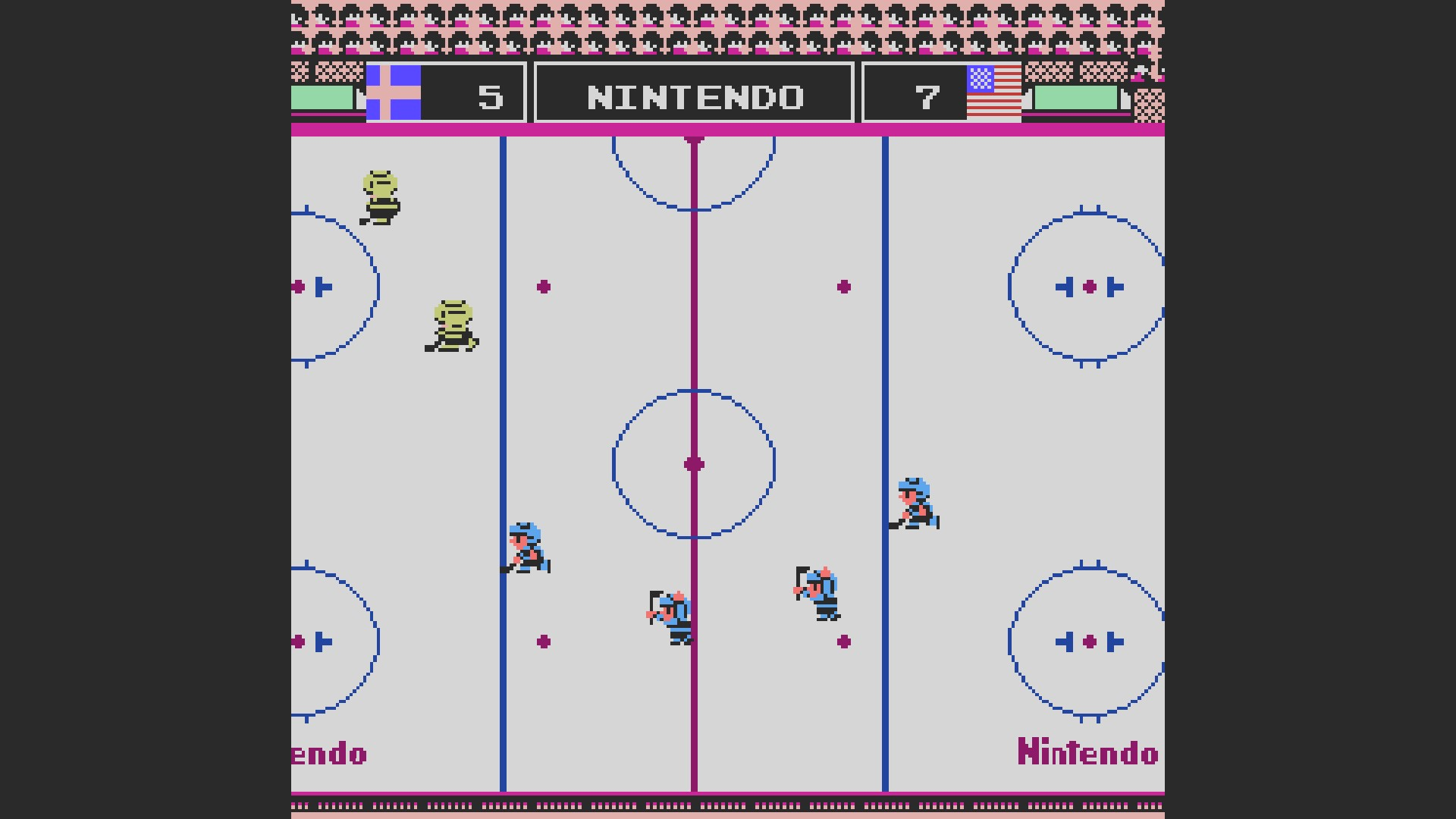 AkinNahtanoj: Ice Hockey [Point Difference] (NES/Famicom Emulated) -2 points on 2020-10-09 06:59:16