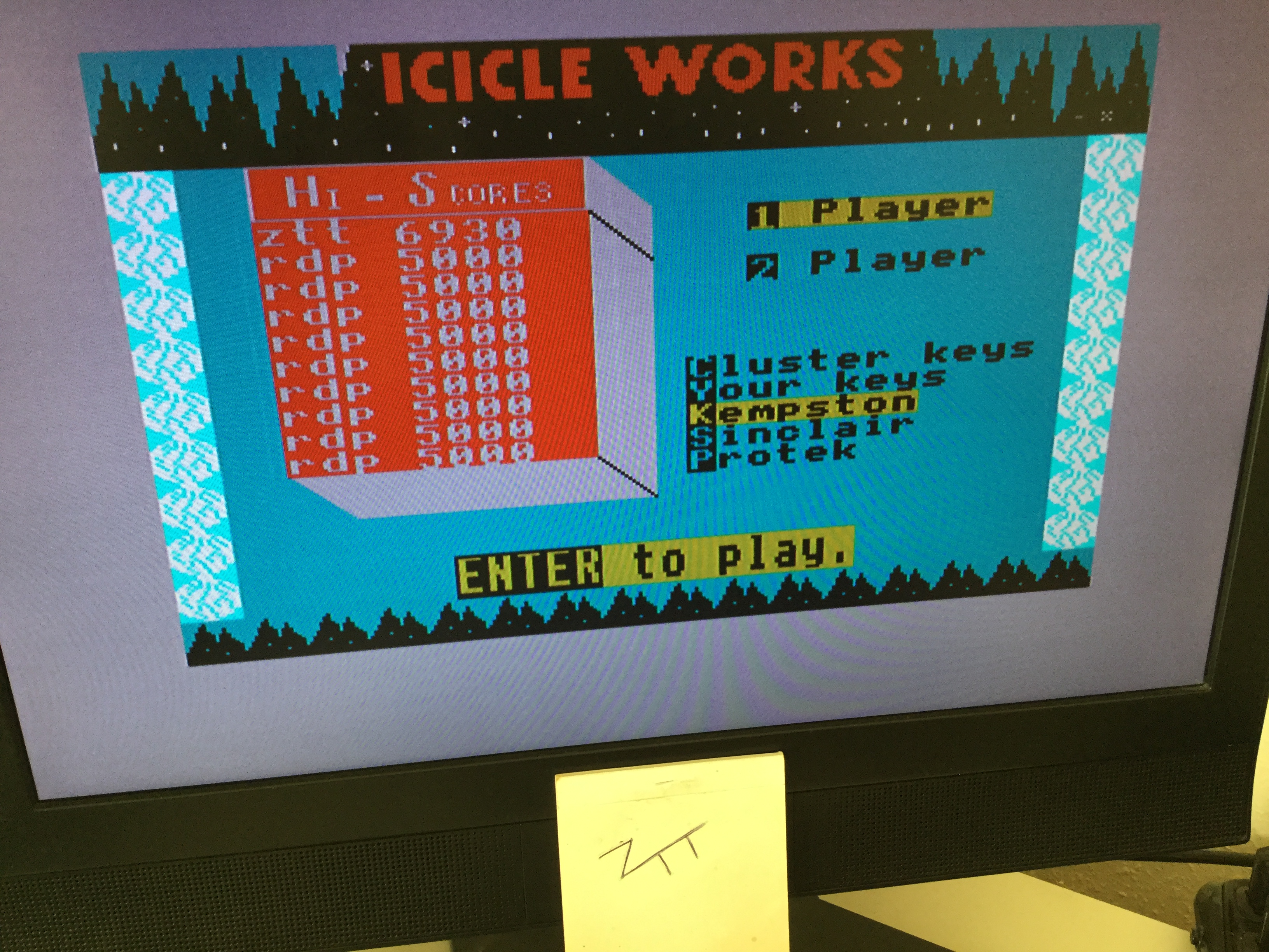 Frankie: Icicle Works (ZX Spectrum) 6,930 points on 2020-10-16 02:26:07