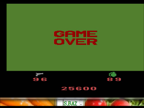 S.BAZ: Ikari Warriors (Atari 2600 Emulated Novice/B Mode) 25,600 points on 2016-03-01 23:30:01
