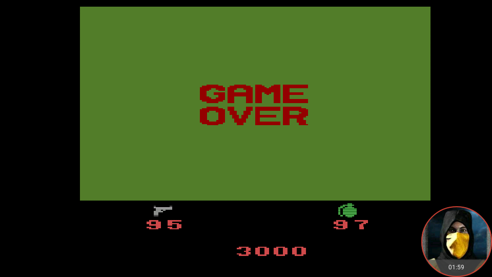 omargeddon: Ikari Warriors (Atari 2600 Emulated Novice/B Mode) 3,000 points on 2018-05-27 23:57:43