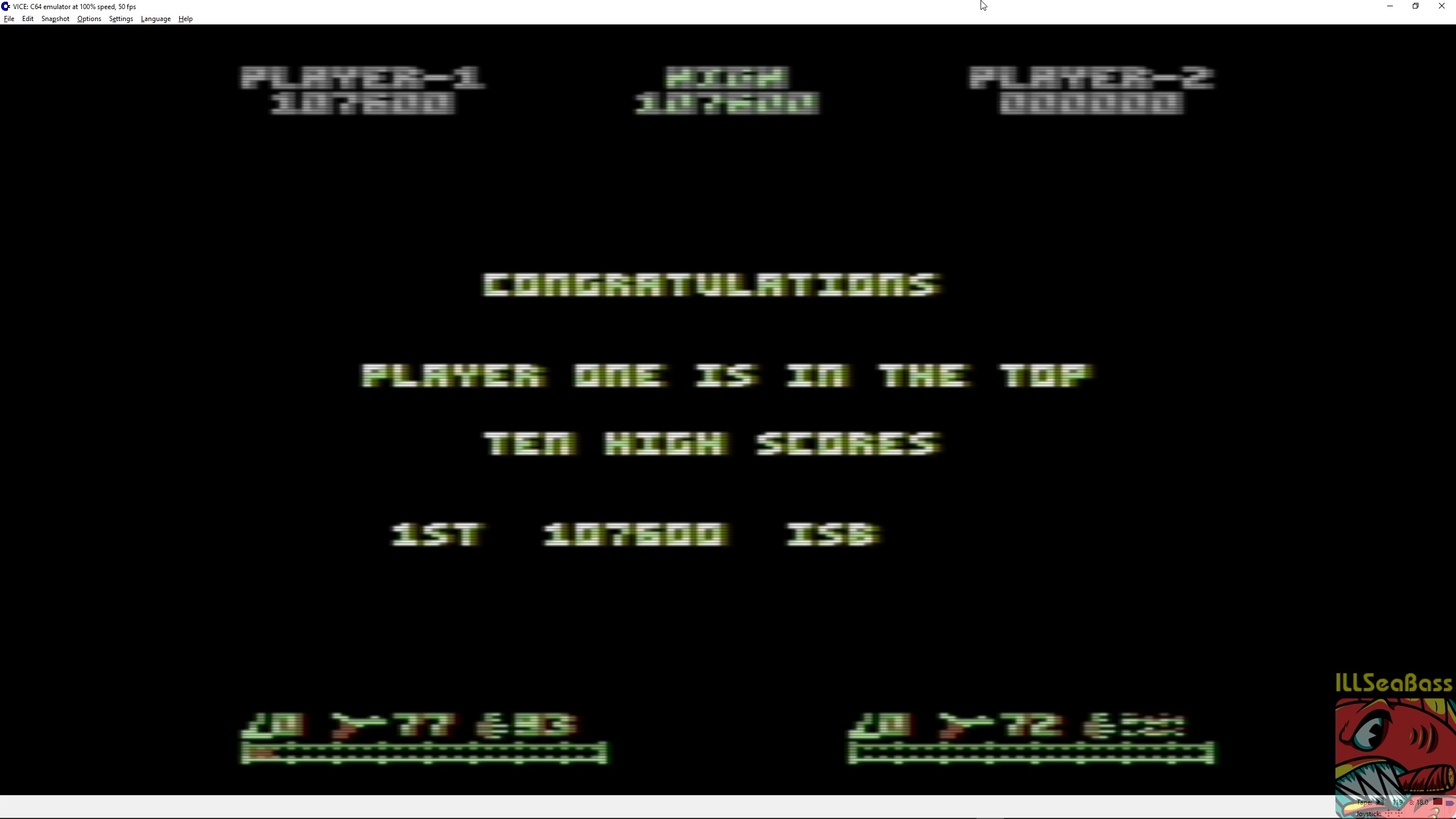 ILLSeaBass: Ikari Warriors (Commodore 64 Emulated) 107,600 points on 2018-03-11 11:01:04