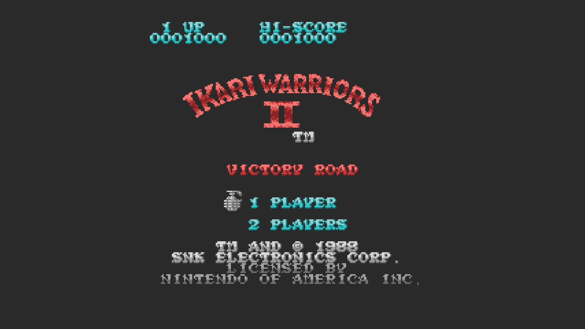 Ikari Warriors II: Victory Road 1,000 points