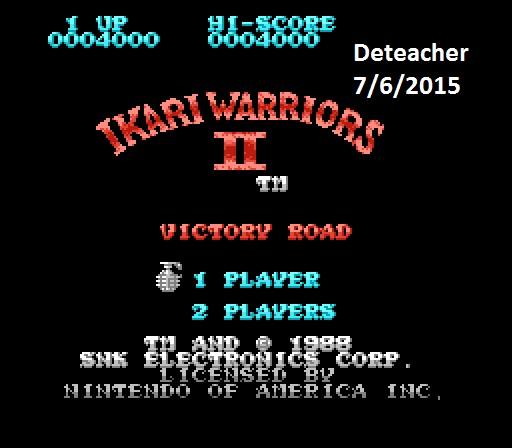 Deteacher: Ikari Warriors II: Victory Road (NES/Famicom Emulated) 4,000 points on 2015-07-06 12:22:58