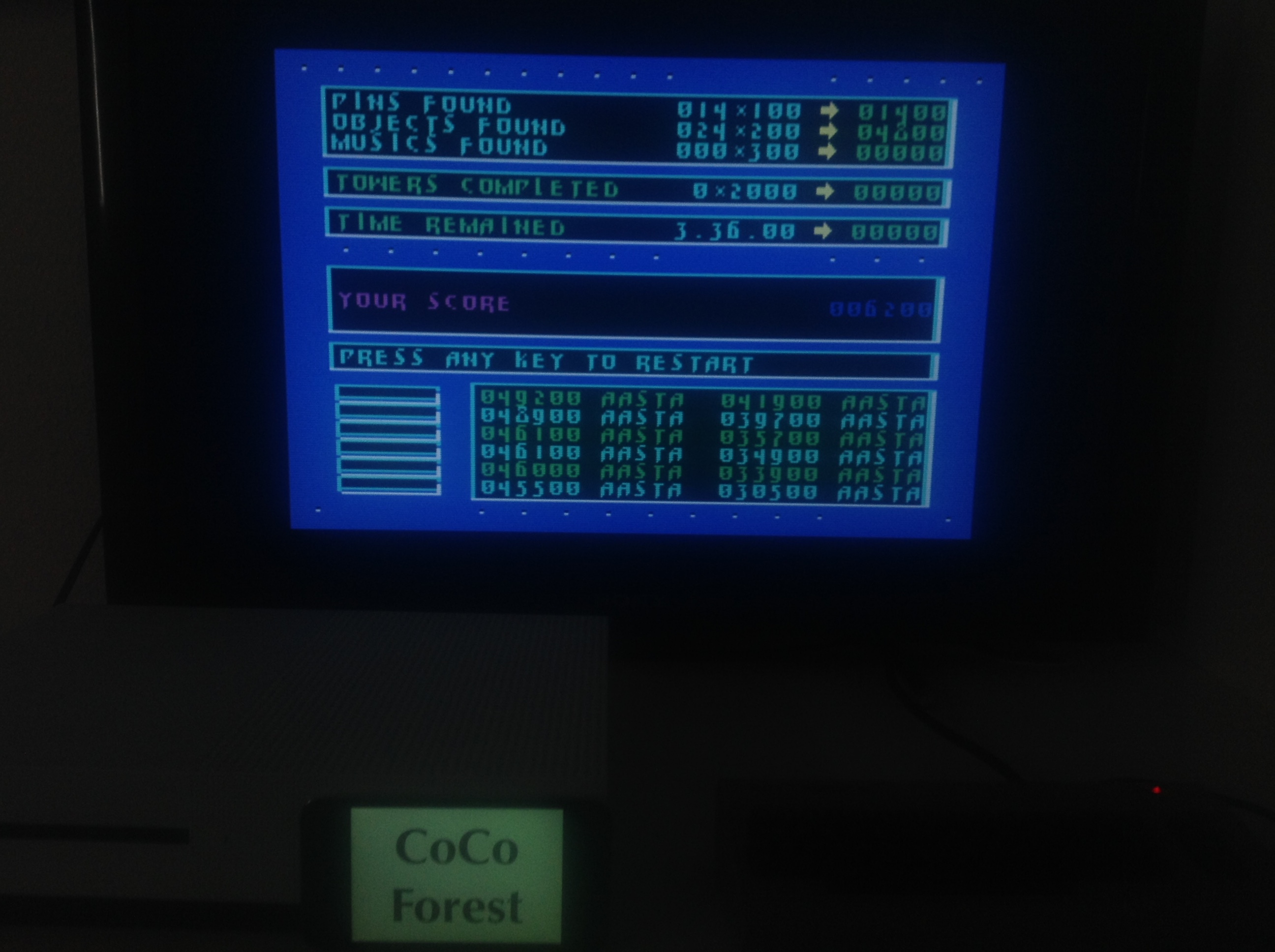 CoCoForest: Impossible Mission 2 (Commodore 64 Emulated) 6,200 points on 2018-04-20 09:55:01