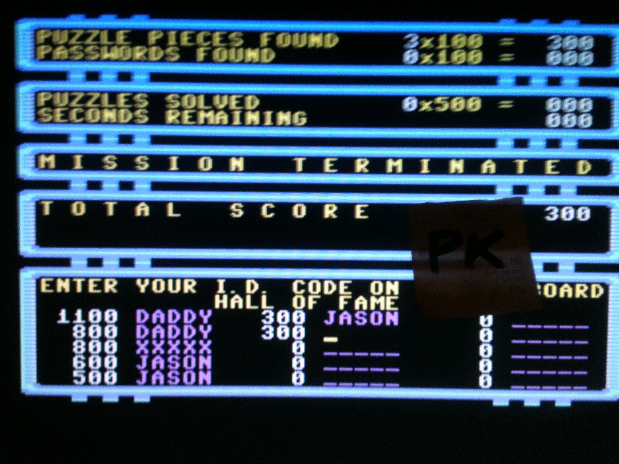 kernzy: Impossible Mission (Commodore 64 Emulated) 300 points on 2015-12-19 14:05:59