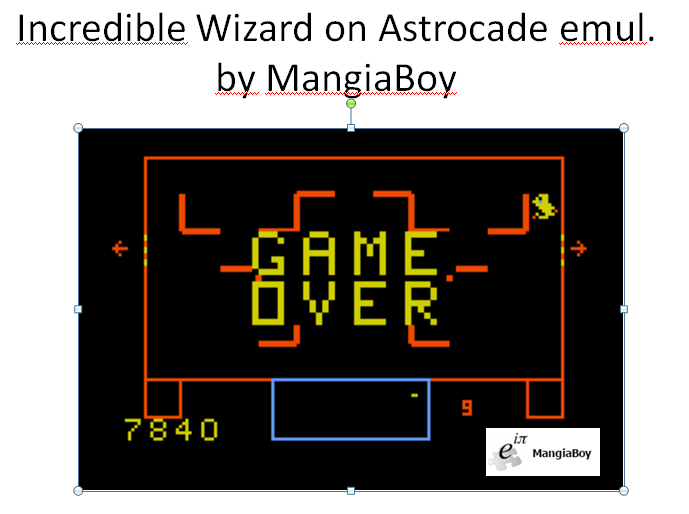 MangiaBoy: Incredible Wizard (Astrocade Emulated) 7,840 points on 2016-01-09 20:37:38