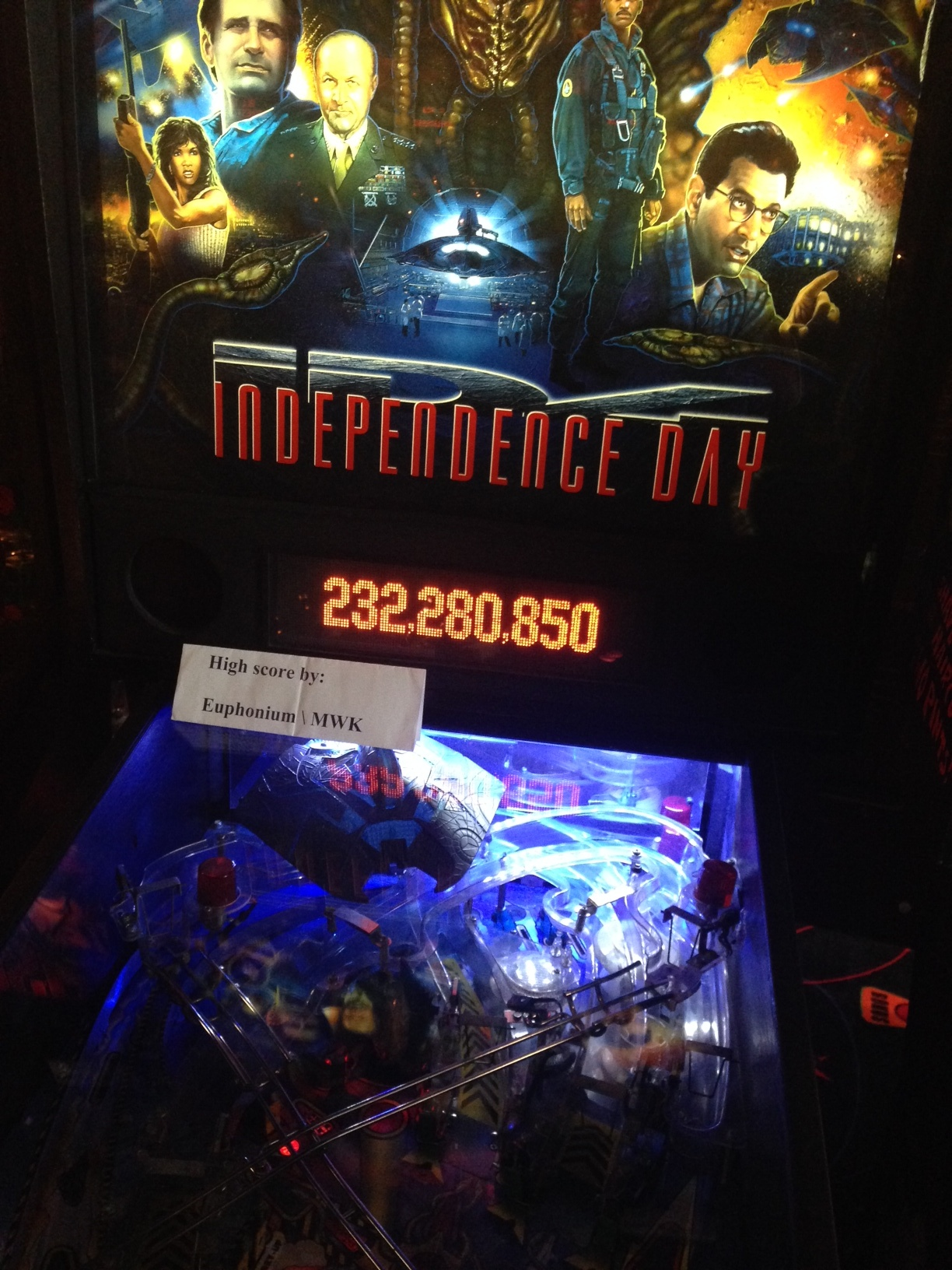 euphonium: Independence Day (Pinball: 3 Balls) 232,280,850 points on 2016-08-13 19:48:50